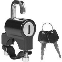 Asupermall - Universal Motorcycle Helmet Lock Anti-Theft Helmet Security Lock Metal 22mm-26mm Black with 2 Keys Set,model:Black