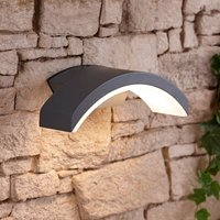Biard - Curve Halo Modern IP54 LED Outdoor Wall Mounted Down Light - Garden Patio Porch