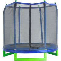 7Ft Large Trampoline and Enclosure Set Equipped with Easy Assembly Feature | Garden and Outdoor Trampoline with Safety Enclosure Net | Ultra Durable