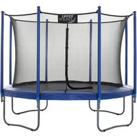 Upper Bounce 10Ft Large Trampoline and Enclosure Set Equipped with Easy Assembly Feature | Garden and Outdoor Trampoline with Safety Enclosure Net |