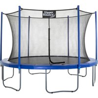 Upper Bounce 12Ft Large Trampoline and Enclosure Set Equipped with Easy Assembly Feature | Garden and Outdoor Trampoline with Safety Enclosure Net |