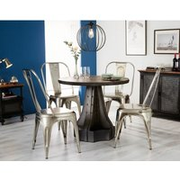 Verty Furniture - Urban Industrial Round Dining Table with