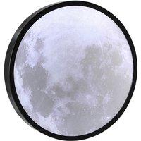USB LED Moon Mirror USB Charging Night Light Round Mirror Desk Lamp Led Makeup Mirror,model:Multicolor 20cm