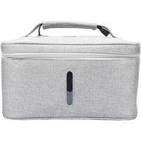 Asupermall - UV Light Sanitizer Bag Portable Disinfection Sterilizer Box LED UVC Cleaner for Underwear/Beauty Tools/Tableware/Baby Bottles,model:Grey