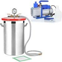 Vacuum chamber 27,7L Vacuum pump 100 l/min Industrial pump Air conditioning SET - MUCOLA