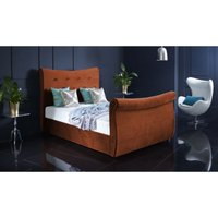 Valencia Burnt Orange Malia Double Bed Frame
