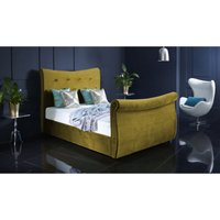 Furniturebox Uk - Valencia Mustard Malia Double Bed Frame
