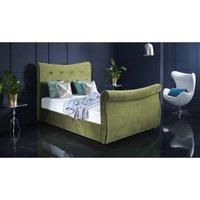 Furniturebox Uk - Valencia Olive Green Malia Double Bed Frame