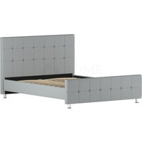 Valentina King Size Bed, Light Grey Linen - HOME DISCOUNT