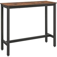 VASAGLE Bar Table, Narrow Rectangular Bar Table, Kitchen Table, Pub Dining High Table, Sturdy Metal Frame, 120 x 40 x 100 cm, Easy Assembly,