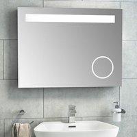 LED Illuminated Magnifying Lighted Bathroom Wall Mount Mirror 600x800mm - Vasari
