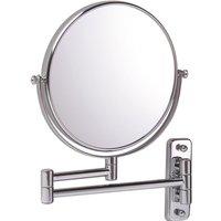 Vasari Reversible Round Wall Mounted 10x Magnifying Shaving Mirror 200mm x 200mm