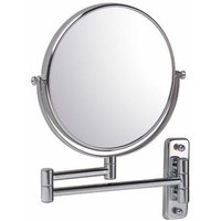 Round Wall Mounted Reversible 7x Magnifying Shaving Mirror 200mm x 200mm - Vasari