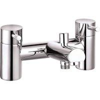 Derby Round Bath Shower Mixer Filler Bathroom Tap, Shower Head - Chrome - Veebath