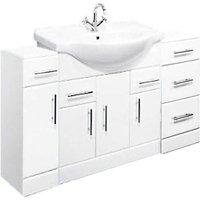 Linx Vanity Unit Bathroom Storage Cabinet Furniture Combo Set - 1300mm - Veebath