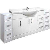 VeeBath Linx 1850mm Vanity Unit Bathroom Furniture Combo Set and Storage Cabinet