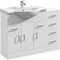 Linx Vanity Basin Unit Storage Cabinet Bathroom Furniture Set - 1050mm - Veebath