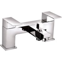 VeeBath Margate Bath Shower Mixer Filler Bathroom Tub Tap, Shower Head - Chrome