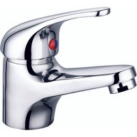 VeeBath Perth Mono Basin Mixer Tap Faucet, Sink Waste and Flexi Pipe - Chrome