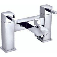 VeeBath Ripon Square Bath Shower Mixer Filler Bathroom Tap, Shower Head - Chrome