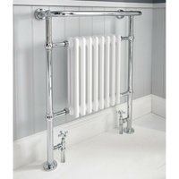 Academy Traditional Radiator Towel Rail 963mm H x 673mm W Chrome - Verona