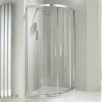 Aquaglass+ Drift Offset Quadrant Shower Enclosure 1200mm x 900mm - 8mm Glass - Verona