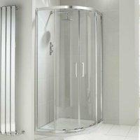 Aquaglass+ Drift Offset Quadrant Shower Enclosure 900mm x 760mm - 8mm Glass - Verona