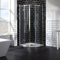 Aquaglass Elegance LH Hinged Offset Quadrant Shower Enclosure 1000mm x 800mm Wide - 8mm Glass - Verona