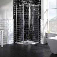 Aquaglass Elegance RH Hinged Offset Quadrant Shower Enclosure 1200mm x 900mm Wide - 8mm Glass - Verona