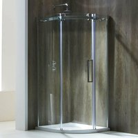 Aquaglass+ Frameless Offset Quadrant 1 Door Shower Enclosure 1000mm x 800mm - Right Handed - Verona
