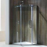 Aquaglass+ Frameless Quadrant 1 Door Shower Enclosure 900mm x 900mm - 8mm Glass - Verona