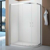 Aquaglass Intro Offset Quadrant Shower Enclosure 1000mm x 800mm with Shower Tray Left Handed - Verona