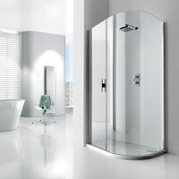 Aquaglass+ Lux Offset Quadrant Shower Enclosure 1200mm x 800mm - Right Handed - Verona