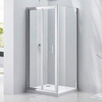 Verona Aquaglass Purity Bi-Fold Shower Door 760mm Wide - 6mm Glass