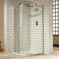 Aquaglass+ Sphere Offset Quadrant 1 Door Shower Enclosure 1000mm x 800mm - Left Handed - Verona