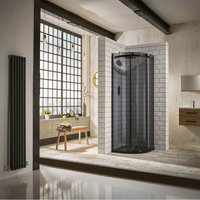 Verona Aquaglass+ Sphere Offset Quadrant 1 Door Shower Enclosure 1200mm x 800mm - RH Smoked Glass