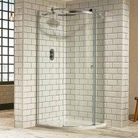 Aquaglass+ Sphere Offset Quadrant 1 Door Shower Enclosure 1200mm x 800mm - Right Handed - Verona