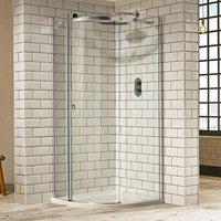 Aquaglass+ Sphere Offset Quadrant 1 Door Shower Enclosure 1200mm x 900mm - Left Handed - Verona