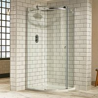 Verona Aquaglass+ Sphere Quadrant 1 Door Shower Enclosure 900mm x 900mm - 8mm Clear Glass