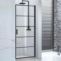 Aquaglass Velar+ Hinged Shower Door and Inline Panel 900mm Wide - 8mm Glass - Verona