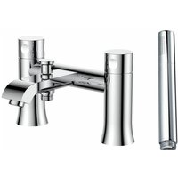 Basque Bath Shower Mixer Tap with Shower Handset - Chrome - Verona