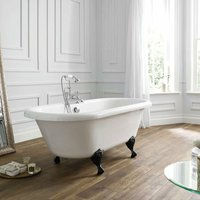 Verona Hebden Freestanding Double Ended Roll Top Bath 1700mm x 750mm - Excluding Feet