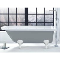 Kilnsey Freestanding Single Ended Bath 1700mm x 750mm Excluding Feet - Dust Grey Outer - Verona