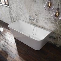 Verona Mono Luxury Back to Wall Freestanding Bath with Waste 1700mm x 800mm - 0 Tap Hole