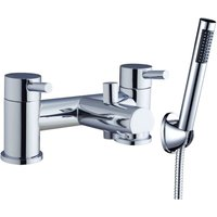 Outline Bath Shower Mixer Tap Pillar Mounted Chrome - Verona