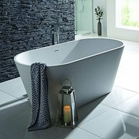 Stone Freestanding Double Ended Bath 1700mm x 800mm - White - Verona