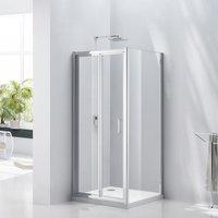 Uno Bi-Fold Shower Door 800mm Wide - 6mm Glass - Verona