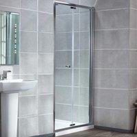 Uno Bi-Fold Shower Door with Tray 760mm x 760mm - 6mm Glass - Verona