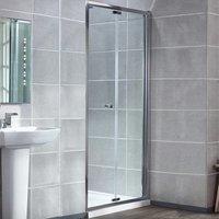 Uno Bi-Fold Shower Door with Tray 900mm x 900mm - 6mm Glass - Verona