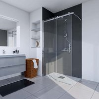 Verona Urban Sliding Walk-in Shower Enclosure 1200mm Wide - 6mm Glass